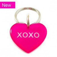 Pink Candy Conversation Heart Pet Id Tag Valentine