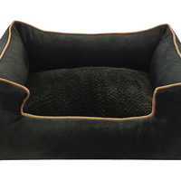 Suede Chill Pet Bed, Charcoal, Pet Beds