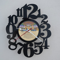 vinyl record clock (artist is Cher)