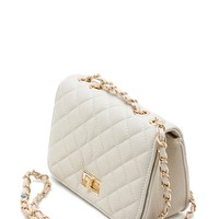 Mini Turnlock Front Quilted Med Size Crossbody