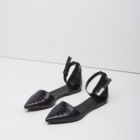 Pointy Toe Ankle-Strap Flat