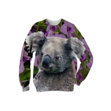 Koala and Cooktown Orchids Sweatshirt created by ErikaKaisersot | Print All Over Me