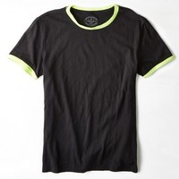 AEO Legend Crew Ringer T-Shirt, Sunset Black | American Eagle Outfitters