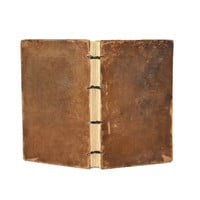 Vintage Leather Journal- Reclaimed leather book covers - Wedding Guest Book - Rustic