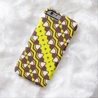 Brown Yellow White Pattern iPhone 6 cover