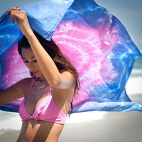 SUNSET..Tie Dye Beach Throw PAREO by Bella Beach Jewels