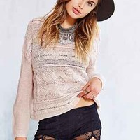 Staring At Stars Embroidered Mesh Short - Urban Outfitters