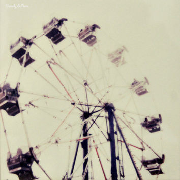 Number Five, ferris wheel, polaroid, fine art photography