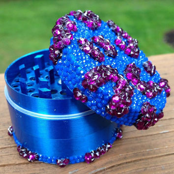 GRINDER -- Blue + Purple Cheetah Print