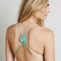 Skivvies by For Love & Lemons Womens Sporty Applique Cage Bralette -