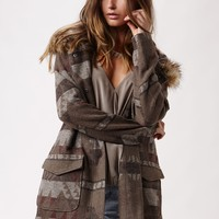 COYOTE FUR TRIM COAT