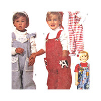 Uncut Toddler Pattern McCalls 7319 Toddler Overalls and T Shirt Size 2 3 4 Easy McCalls