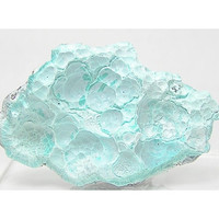 Bright Sky Blue Aurichalcite with hemimorphite 79 Mine Arizona Natural Botryoidal Crust Mineral Specimen