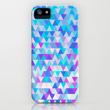 Blue Triangles iPhone & iPod Case by Ornaart
