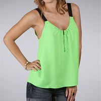 Lime Sleeveless Top with Zipper