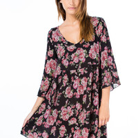Floral Blooms Cross Stitch Dress
