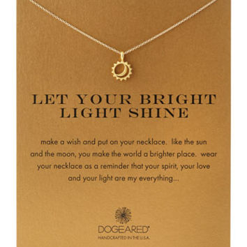 Gold-Dipped Let Your Bright Light Shine Necklace - Dogeared - Gold