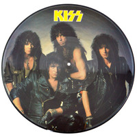 Vintage 80s KISS Crazy Nights Album Picture Disc Record Vinyl LP