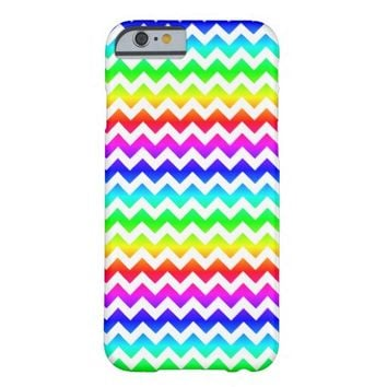 Rainbow White Chevron iPhone 6 Case