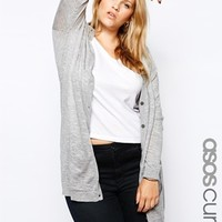 ASOS CURVE Cardigan With Black Elbow Patch