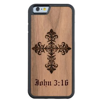 Cross on Wood iPhone 6 Case
