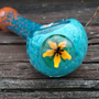 Glass Pipe -Flower Marble Frit Spoon