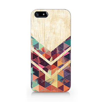 Woodprint for iPhone 5 5S case, iPhone 4 4S case, Free shipping D246, wood glass case