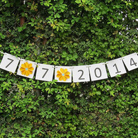 Save The Date Banner / Wedding Date Banner / Bridal Banner / Wedding Banner / Wedding Photo Prop