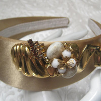 MODERN WOMAN-Headband Designed With Vintage Jewelry Pieces