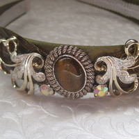 ROMANCE ME-Headband Designed With New And Vintage Jewelry Pieces