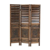 Wayborn Furniture 2317 Louver Screen Room Divider - Decor Universe
