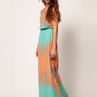 River Island Print Maxi Dress at asos.com