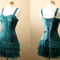 ON SALE 4th of July // The Belladonna Dress // Corset Burlesque Bustier Flapper Party Dress (S,M,L)