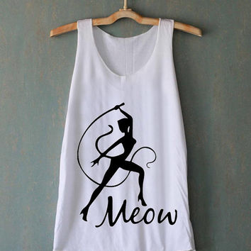 Cool Crazy Cat Meow Paws Funny for tank top mens and tank top girls
