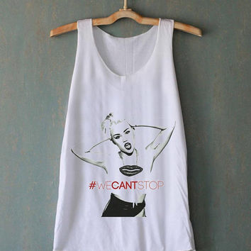 Miley Cyrus We Cant Stop Wrecking Ball for tank top mens and tank top girls