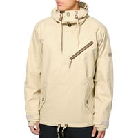 686 Reserved Getty Khaki 10K Pullover Snowboard Jacket