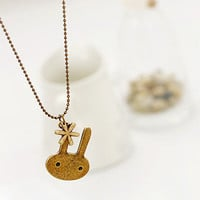 ancient vintage rabbit necklace, women necklace,girl chain necklace   XL30