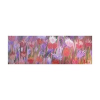Field Flowers Abstract Art Canvas Print