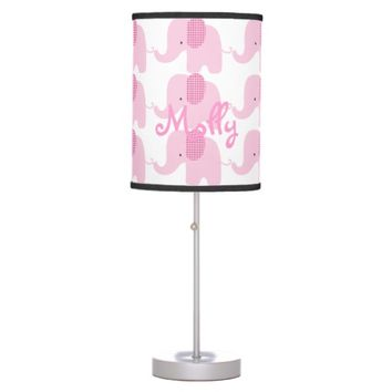 Pink Baby Elephant Table Lamp