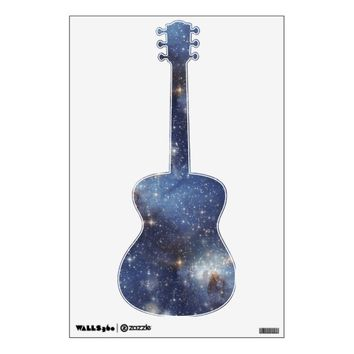 Guitar Starry Space Wall Decal