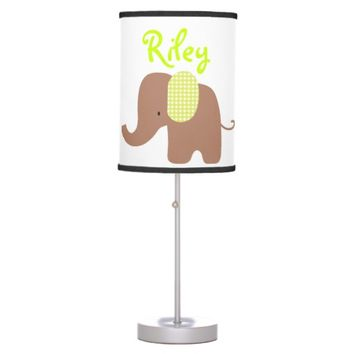 Chocolate and Lime Baby Elephant Table Lamp