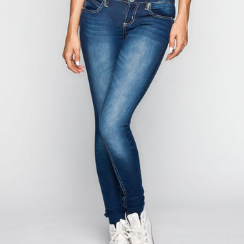 Almost Famous Pick Me Up Womens Skinny Jeans Dark Blast  In Sizes