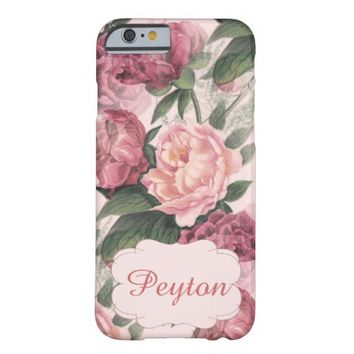 Vintage Roses Pink Personalized Case