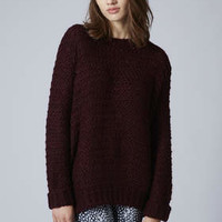 Links Knitted Jumper - Berry Red