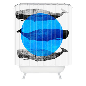 Elisabeth Fredriksson Whales Shower Curtain