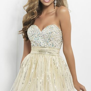 Short Strapless Dress by Blush 9665