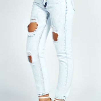 Helen Super Ice Wash Skinny Mid Rise Jeans