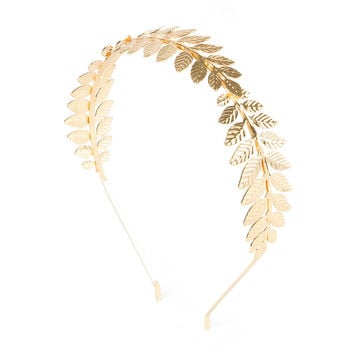 Branches of Gold Leaves Headband