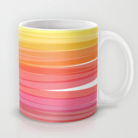 Abstract Sunset Ombre Stripes Mug