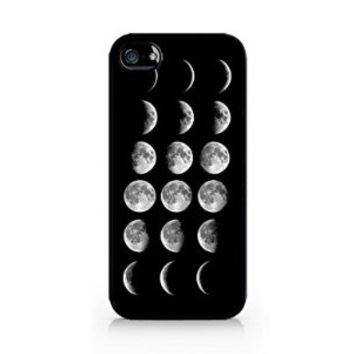 Moon Phases - Lunar Phases - Hipster Moon Phases - iPhone 4/4S Black Case